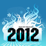New Year Design 2012. Wallpaper vector design for 2012 Royalty Free Stock Photos