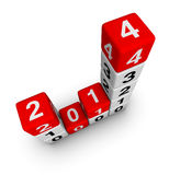 New year 2014 Stock Image