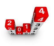 New year 2014. Design element Stock Photography