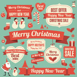 New Year  design element  set. Royalty Free Stock Photography