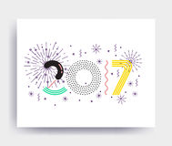 New Year design Royalty Free Stock Image
