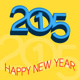 2015 New Year Design. 2015 Happy New Year Design royalty free illustration