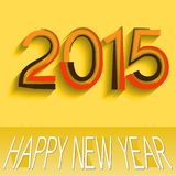 2015 New Year Design. 2015 Happy New Year Design stock illustration