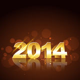 New year design. Happy new year golden design Stock Images