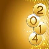 New year design. Happy new year golden style design vector illustration
