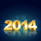 2014 new year design. 2014 happy new year design illustration Royalty Free Stock Photography