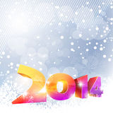 New year design. Happy new year design with snowfall royalty free illustration