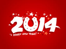 2014 new year design. Royalty Free Stock Photo