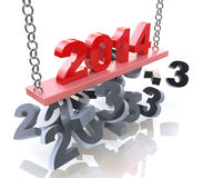 New Year 2014. In the design of the information related to the New Year and holiday Royalty Free Stock Images