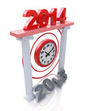 New Year 2014. In the design of the information related to the New Year and holiday Stock Image
