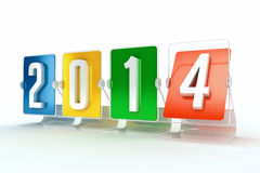 New year 2014. Design made in 3D Stock Images