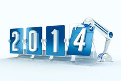 New year 2014. Design made in 3D Royalty Free Stock Photo