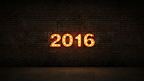 New Year 2016. Design made in 3D Royalty Free Stock Photography