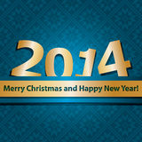 New year 2014 design template. All elements are layered separately in vector file. Easy editable. Christmas seamless wallpaper. Can be used as invitations Royalty Free Stock Photography