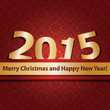 New year 2015 design template Royalty Free Stock Photography