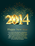 New year design. Vector 2014 happy new year design with fireworks Royalty Free Stock Photo