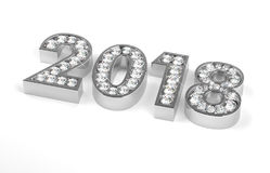 New Year Diamonds 2018 Stock Images