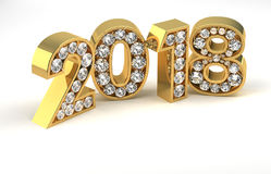 New Year Diamonds 2018 Royalty Free Stock Photos