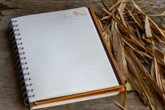 New Year diary. Before work start diary is empty royalty free stock photography
