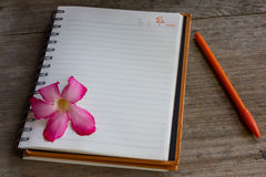 New Year diary stock photography