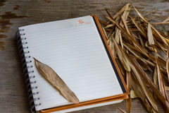 New Year diary. Before work start diary is empty stock photo
