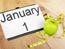 New. Year diet health habit isolated changing stock photography