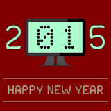 New Year 2015 Digital Age. An illustration of the New Year 2015 as a digital age year. The zero and one of the year 2015 are shown as binary numbers displayed on Royalty Free Stock Images