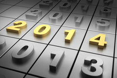 New Year 2014. (digitally generated image Royalty Free Stock Images