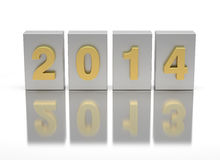 New Year 2014. (digitally generated image Stock Photography