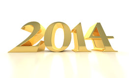 New Year 2014. (digitally generated image Royalty Free Stock Photo