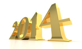 New Year 2014. (digitally generated image Royalty Free Stock Photos