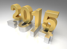 New Year 2015. And 2014 (Digitally Generated Image Royalty Free Stock Photo