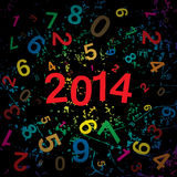 New 2014 year with digits background. Royalty Free Stock Photos