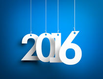 New year - 2016. Digits hanging on the ropes vector illustration