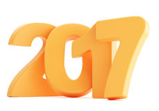 2017 New year digits isolated on white background. Bright orange 2017 New year digits isolated on white background. 3d rendering Vector Illustration