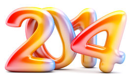 2014 New Year digits Stock Photography
