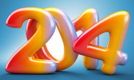 2014 New Year digits Stock Photos