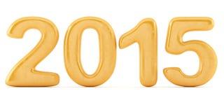 2014 New Year digits. Isolated on white background. 3d illustration Stock Photo