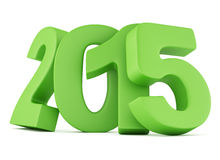 2015 New Year digits. Isolated on white background. 3d illustration Stock Photography