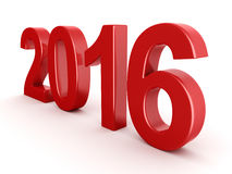 2016 New Year digits. Red 2016 New Year digits on white background vector illustration