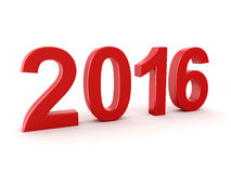 2016 New Year digits. Red 2016 New Year digits on white background Stock Photo