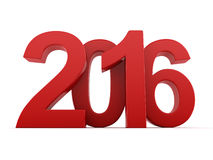 2016 New Year digits. Red 2016 New Year digits on white background stock illustration
