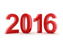 2016 New Year digits. Red 2016 New Year digits on white background Stock Image