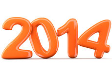 2014 New Year digits Royalty Free Stock Photo
