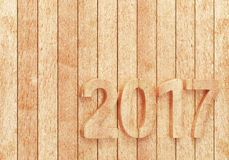 2017 New year digits on wooden planks. 2017 New year wooden digits on wooden planks. 3d rendering Royalty Free Stock Image