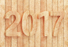 2017 New year digits on wooden planks. 2017 New year wooden digits on wooden planks. 3d rendering Royalty Free Illustration