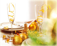New Year dinner Stock Images