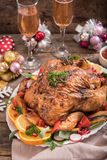 New Year dinner Royalty Free Stock Image