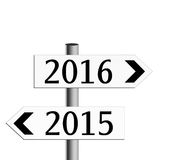 New year direction, strategy. Signposts. Royalty Free Stock Image
