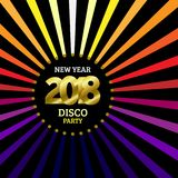 2018 New Year Disco party template. 2018 New Year Disco party placard, poster or banner template. Vector bright background illustration vector illustration